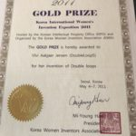 Won the Gold prize at Korea International Womens Invention Exposition 2011.